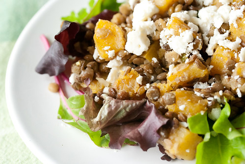 Squash and Lentil Salad with Feta