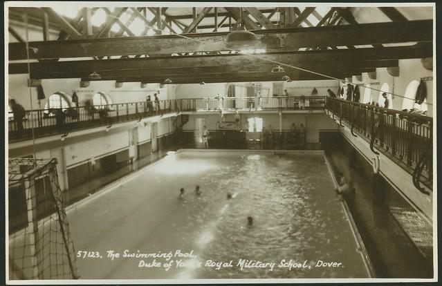 Postcard The Swimming Pool Duke Of York 39 S Royal Military