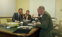 Adam Holloway, MP for Gravesham & Dan Hannan MEP at the phonebank