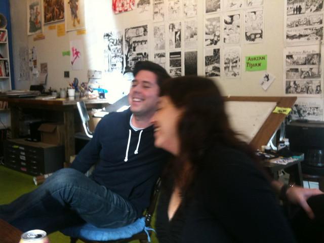 Brendan Burford and Leela Corman at SAW, 1-5-2013