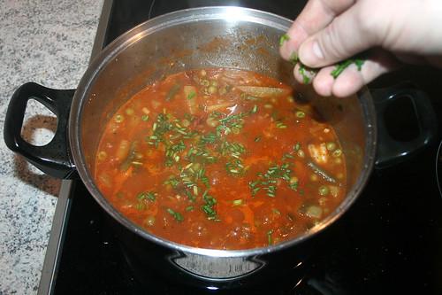 50 - Garnelen-Gemüse-Topf / Prawn vegetable stew - Hälfte Schnittlauch einstreuen / Add half of chives