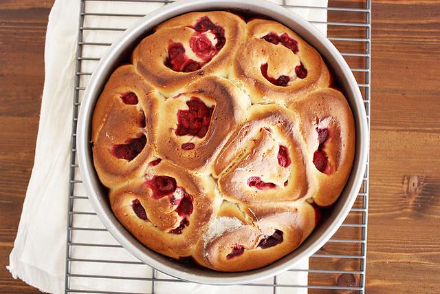 raspberry rolls.