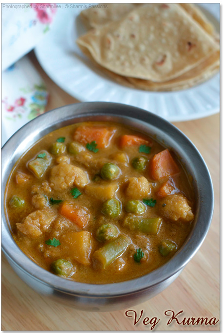 Mixed Vegetable Korma Recipe