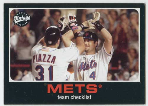 2002 Upper Deck Vintage Mike Piazza / Robin Ventura CL