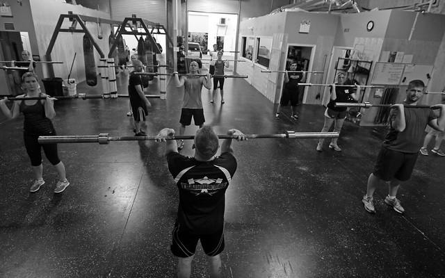 CrossFit class Black a...