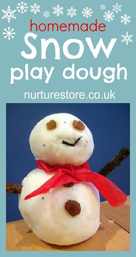 Snow Playdough Recipe (Photo from NurtureStore)