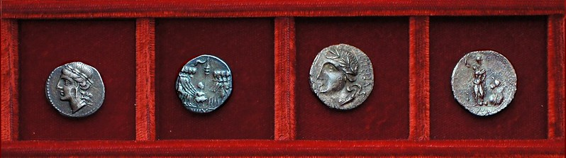 HNI 415 Social War Italia oath scene, HNI 407 Social War, Ahala collection, coins of the Roman Republic