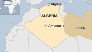 Map of Algeria where Islamists seized an gas field working in cooperation with BP corporation. France has increased the instability within West and North Africa through its invasion and bombing of Mali. by Pan-African News Wire File Photos