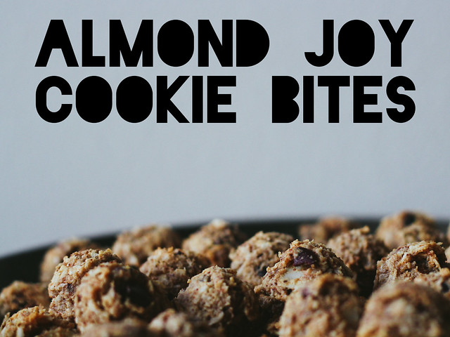 Almond joy cookie bites