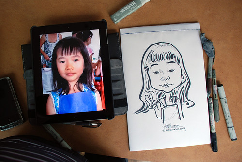caricature sketching for a birthday party 07072012 - 2