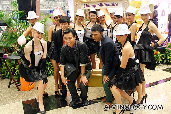 Group photo featuring the Changi Millionaire girls