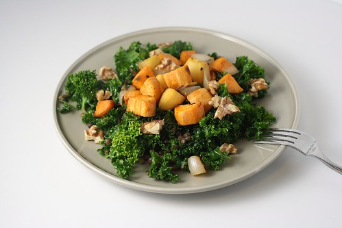 Kale, Lentil, and Roasted Sweet Potato Salad