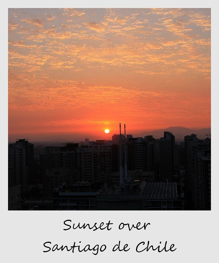 polaroid of the week chile santiago sunset
