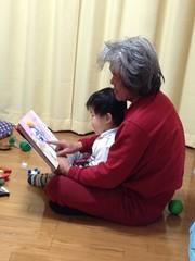 おーちゃんと絵本読む 2013/1/27