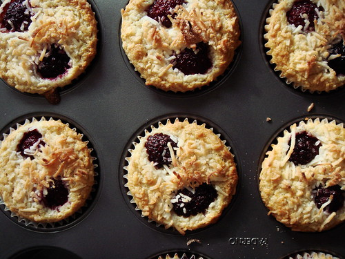 Coconut Blackberry Muffin with Lime