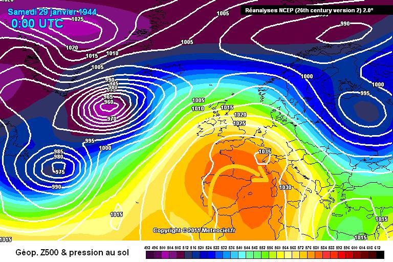 carte de situation du record de chaleur à Perpignan le 29 janvier 1944 météopassion
