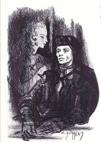 Louis Jouvet. (illustration par C. Durrens