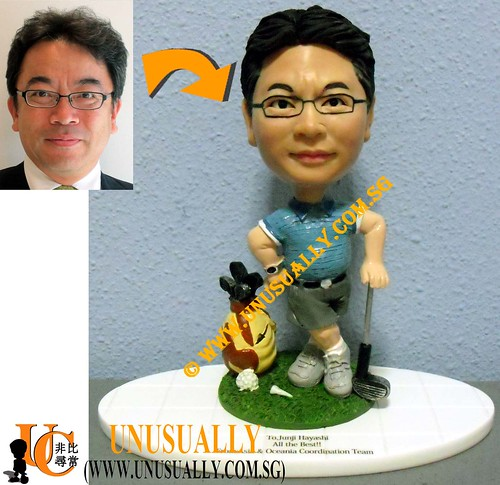 Unusually Custom 3D Smart Male Golfer Figurine - @www.unusually.com.sg