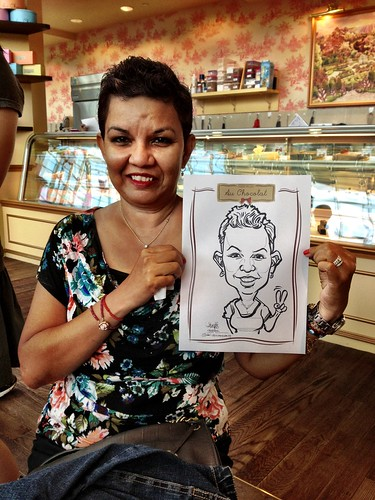 caricature live sketching for Au Chocolat Opening - Day 2 - 4