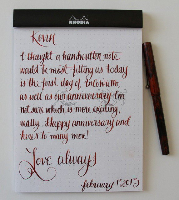 InCoWriMo Letter to Kevin for Anniversary