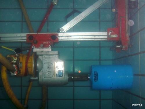 Onderwater diamantboormachine / onderwaterboren