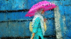 Girl with Pink Umbrella