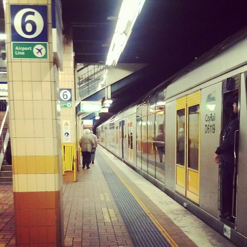 The next train to arrive on platform number six goes to... #cityrail