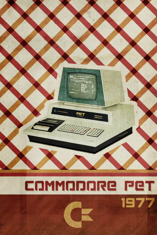 Commodore PET - Retro Poster