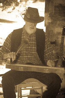 Old Timey Musician (antiqued)