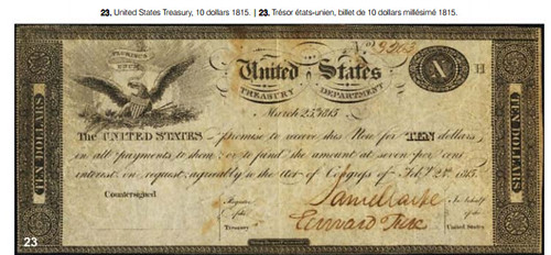 1815 US Treasury Note