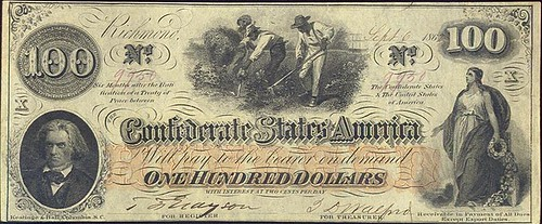 Confederate $100 note front
