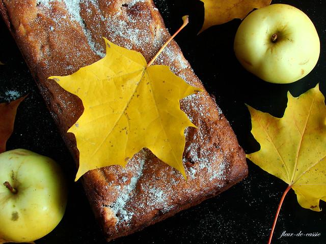 кекс творожный с яблоками и медом 2