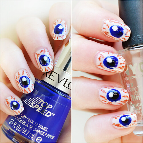 Halloween Eyeball nails
