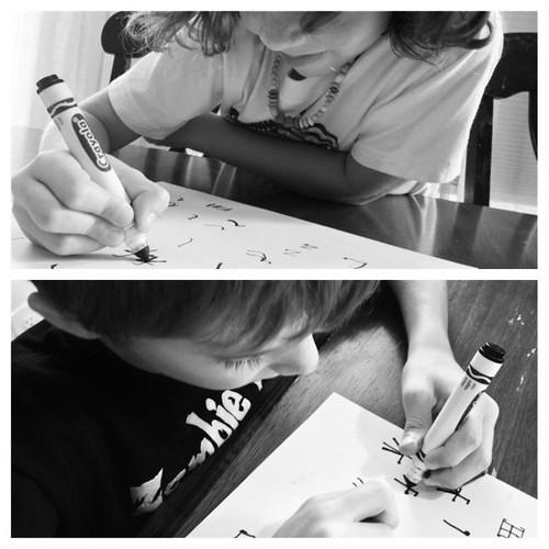 Calligraphy in China. #SOTW #storyoftheworld #homeschoolrocks