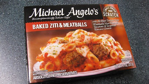 michael angelo baked ziti and meatballs box
