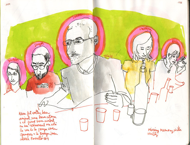 37th Sketchcrawl. The sketching gang.