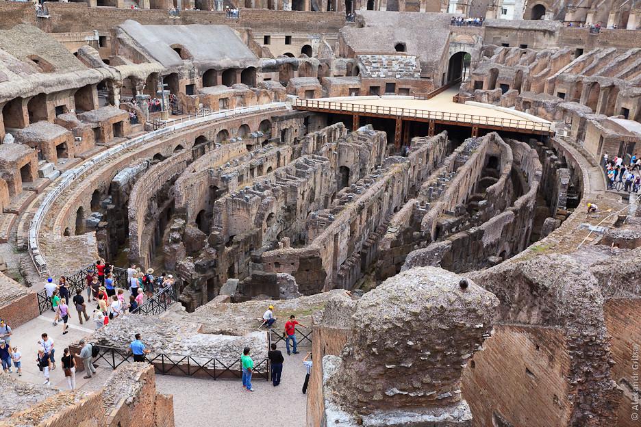 Колизей и храмы католической церкви в Риме