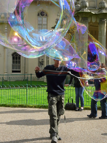 Blowing Bubbles, Royal Pavilion Brighton