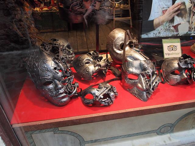 Cyborg carnival masks