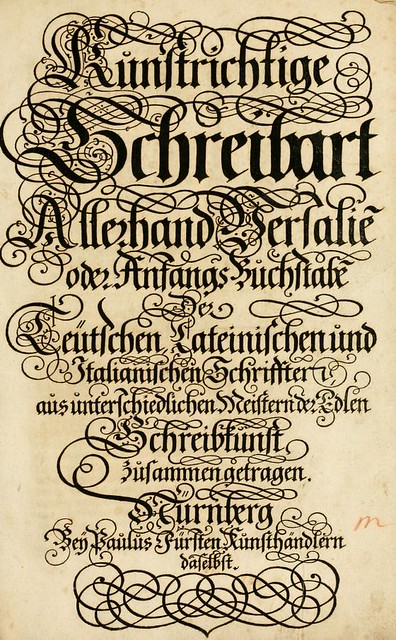 17th Century Calligraphy From Germany The Public Domain