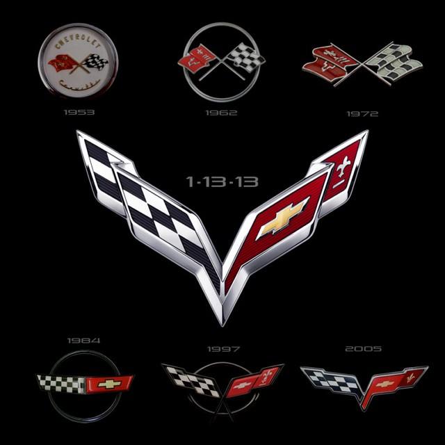 Corvette emblemas 1953 - 2013