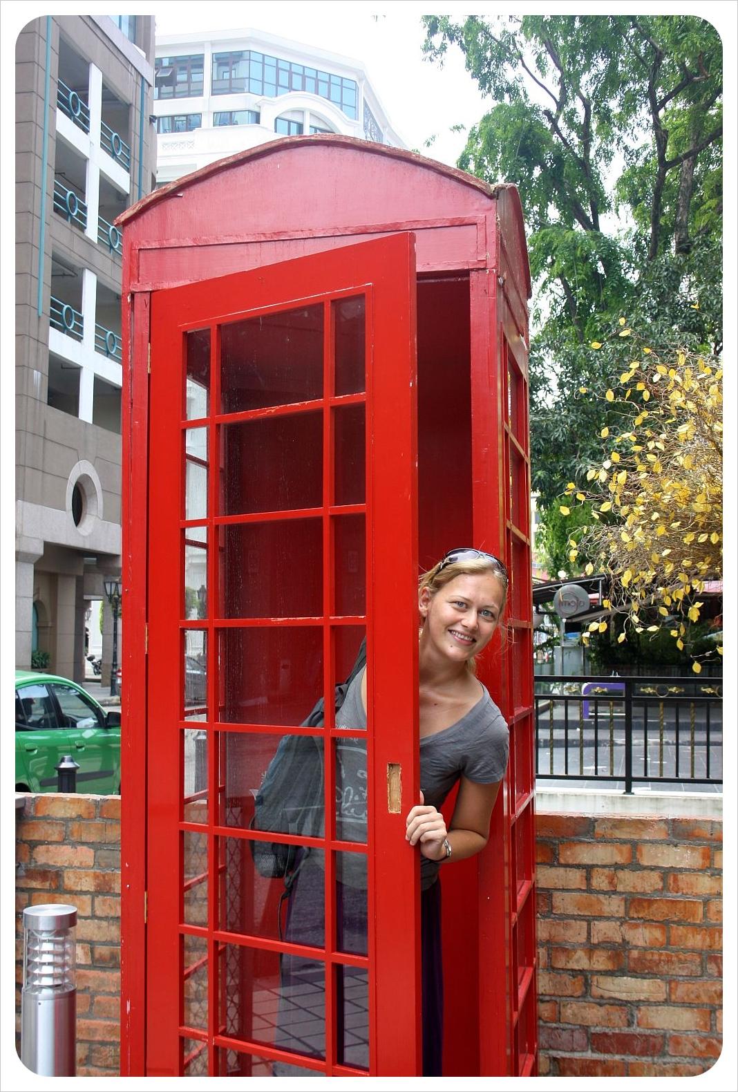 british phone booth in kuala lumpur& dani