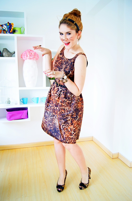 DIY Halloween Costume: Leopard Kitty Cat!