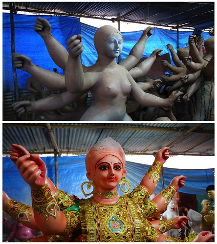 Before and After Durga Idol 2