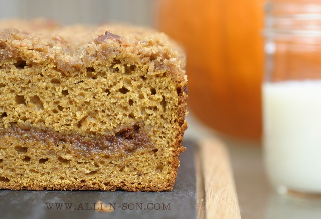 Cinnamon Swirl Streusel Pumpkin Bread