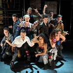 Gus Curry, front center, and the cast of the SpeakEasy Stage Company production of Bloody Bloody Andrew Jackson, running Oct. 19 - Nov. 17 at the Stanford Calderwood Pavilion at the Boston Center for the Arts, 527 Tremont Street in Boston's South End. Tix/Info: 617-933-8600 or www.SpeakEasyStage.com. Photo: Craig Bailey / Perspective Photo