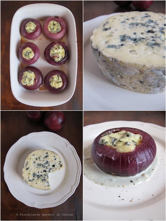Cipolle ripiene di Lou Blau, salsiccia e zucca