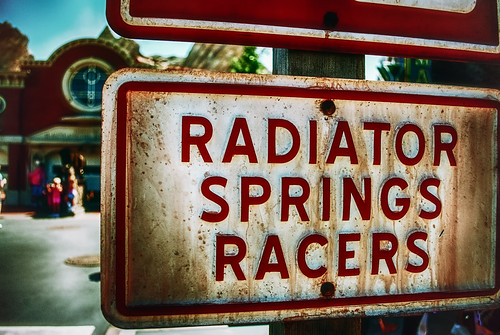 Radiator Springs Racers Needs Some Dusting by hbmike2000