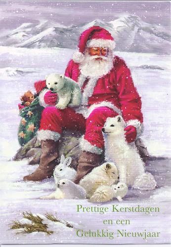 Merry Christmas & Happy New Year Santa & Animals