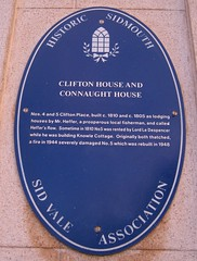 Photo of Clifton House and Connaught House blue plaque
